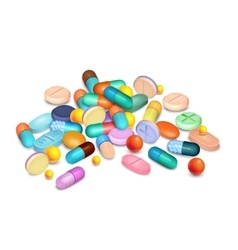 Pills medical realistic composition vector
