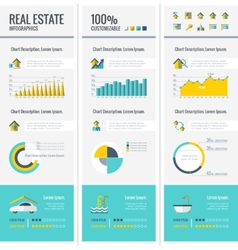Real estate infographic elements vector