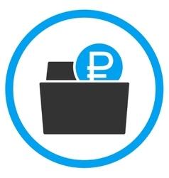 Rouble Wallet Icon vector image vector image