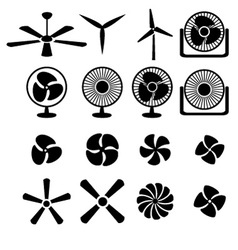 Set of fans and propellers icons vector