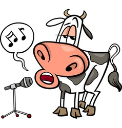 Singing cow cartoon vector