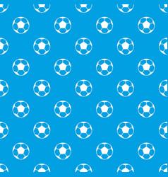 soccer ball pattern seamless blue vector image