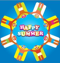Summer sea happy people vector