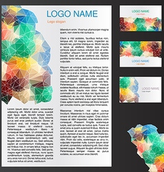 triangle branding template vector image