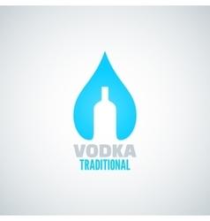 Vodka bottle drop background vector