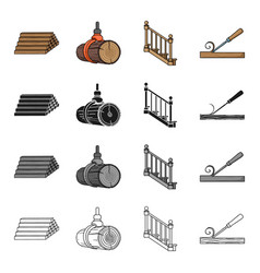 Woodworking enterprise ecology and other web vector