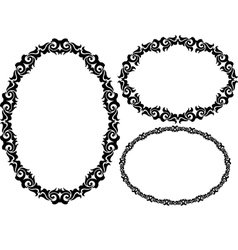 Oval frame vector