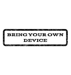 bring your own device watermark stamp vector image