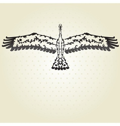 Decorative stork vector