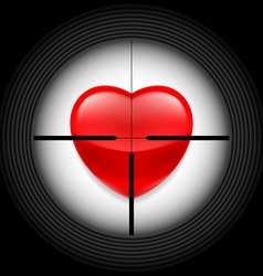 Heart in rifle sight vector