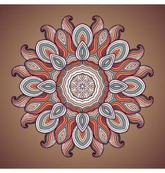 Ethnic round ornamental pattern vector