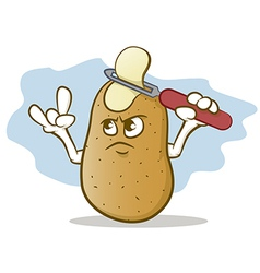 Potato skin head vector