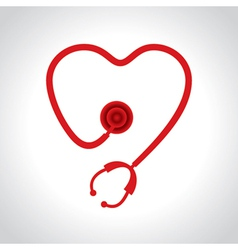 Stethoscope make a heart shape vector