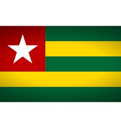 Flag of togo vector