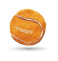 Orange tennis ball vector