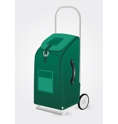Green trolley suitcase vector