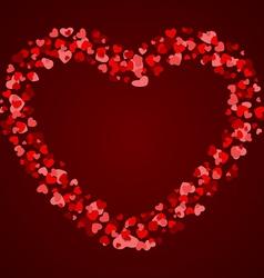 Hearts frame vector