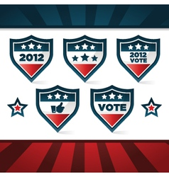 voting patriotic shields vector image