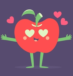 Set of fruits in love vector