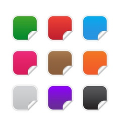 Colorful square labels vector image