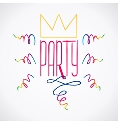 Party handdrawn poster 5 vector
