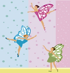 three fairies vector image