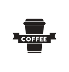 Black icon on white background coffee to go vector