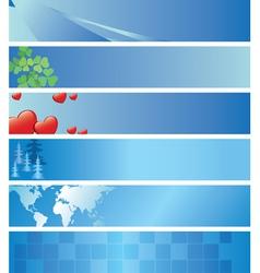 Set - light blue headers vector
