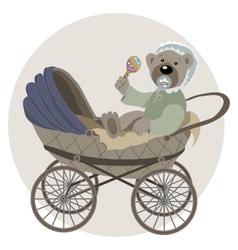 Baby teddy bear vector