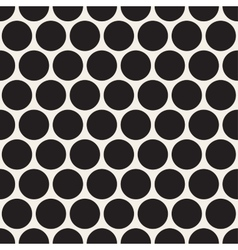 Black dotted seamless geometric pattern vector image