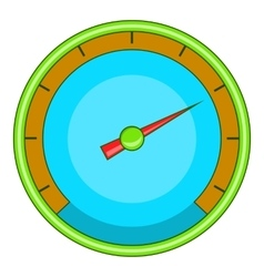 Blue speedometer icon cartoon style vector