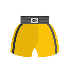 Boxing shorts isolated boxer clothing for athlete vector