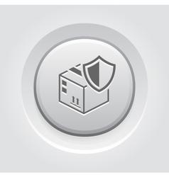 Cargo protection icon grey button design vector