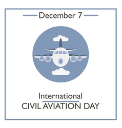 Civil aviation day vector
