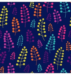 Colored seamless pattern with blossom twigs vector image vector image
