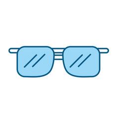 Cute blue sunglasses cartoon vector