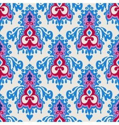 Damask Winter seamless pattern vector image vector image