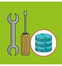 Data base toolkit icon vector