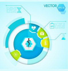 diagram design template vector image vector image