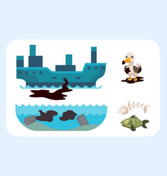 ecological problems environmental oil pollution of vector image vector image