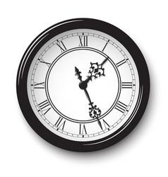 elegant roman numeral wall clock vector image