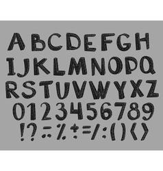 Fun fashion font vector
