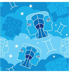 Gemini - Zodiac seamless pattern vector image vector image