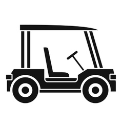 Golf club vehicle icon simple style vector