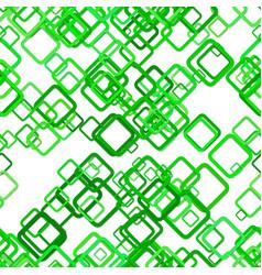 Green seamless geometric square pattern vector