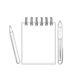 Hand drawn notebook for business people vector image vector image