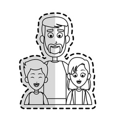happy father and children family icon image vector image vector image