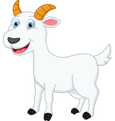happy goat cartoon vector image vector image
