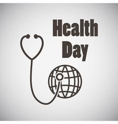 Health day emblem vector