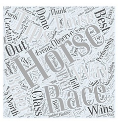 Horse racing tip word cloud concept vector